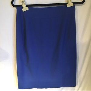Size 4 Ann Taylor LOFT Brilliant Blue Pencil Skirt